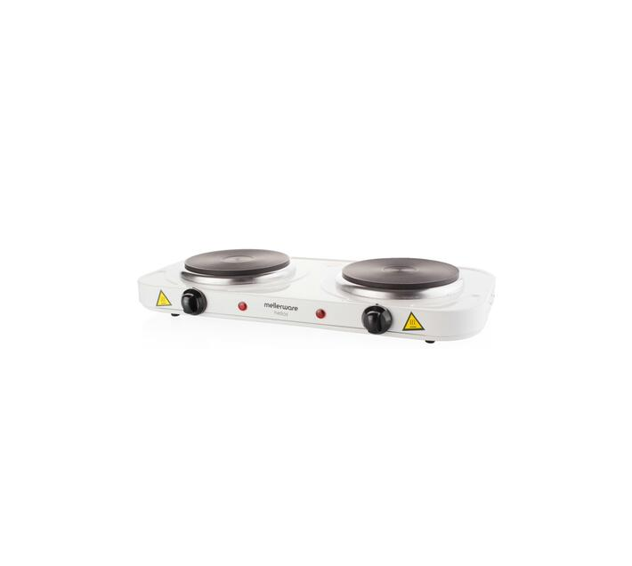 "Hotplate Adjustable Temperature White Double Plate 2000W ""Helios"""