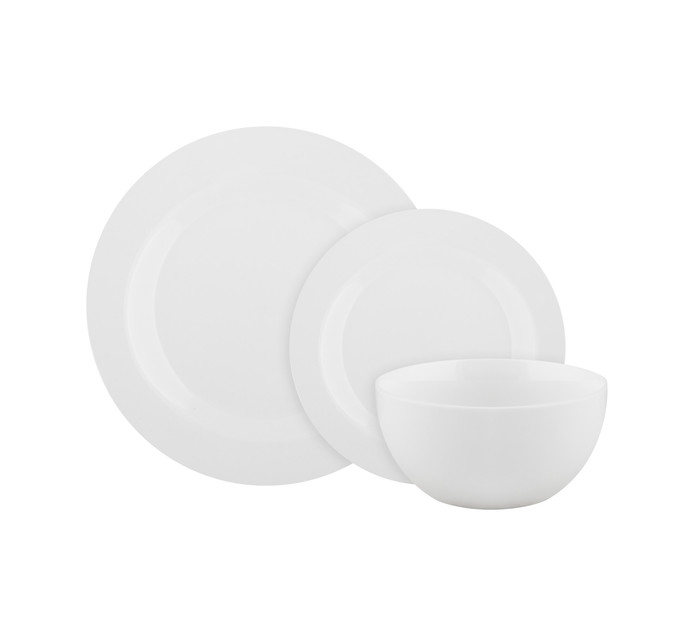 BASIC WHITE 18-Piece Dinner Set