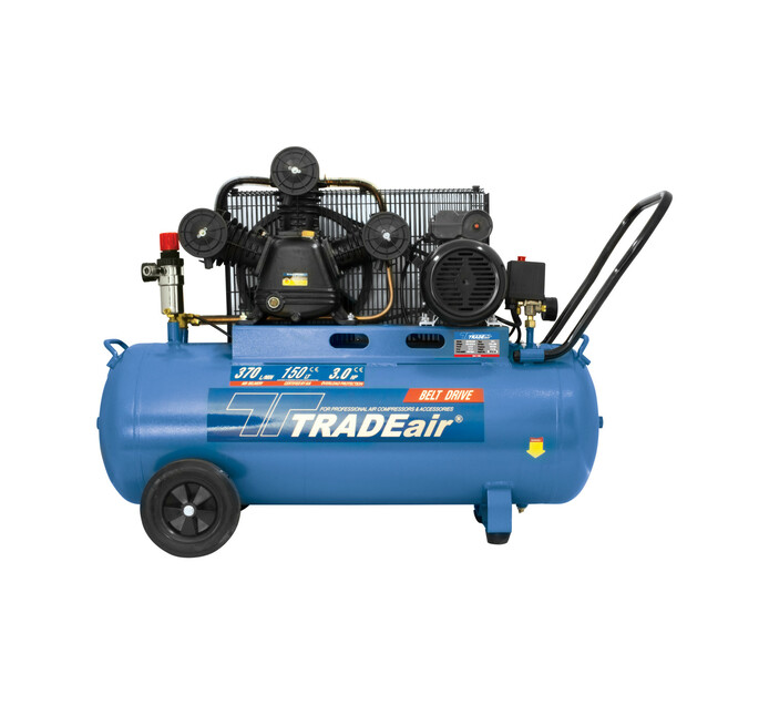 TRADEAIR 150LT Compressor 3Hp W Head B/Drive