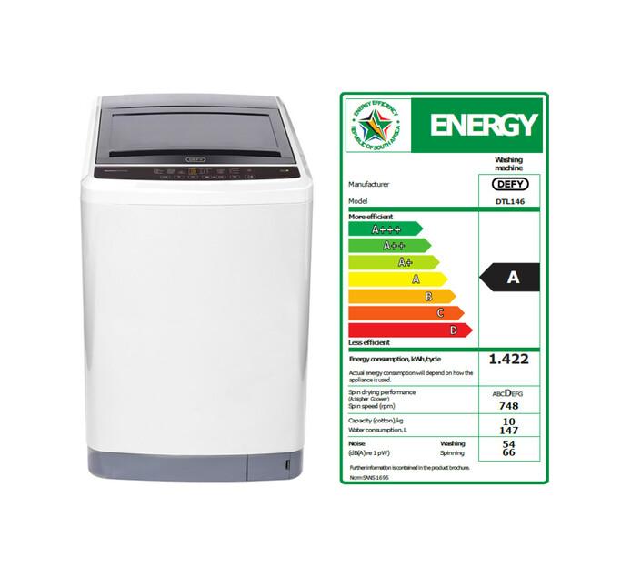 DEFY 10 kg Top Loader Washing Machine