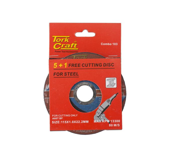TORK CRAFT 115MM Steel Cutting Disc 5 Pus 1