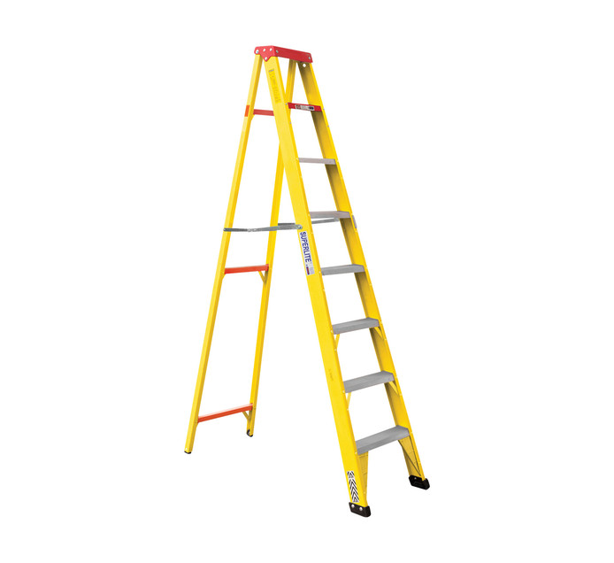 FIBREGLASS 8-STEP LADDER