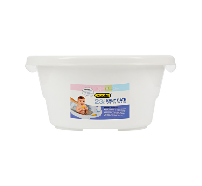 ADDIS 23L Baby Bath with Plug