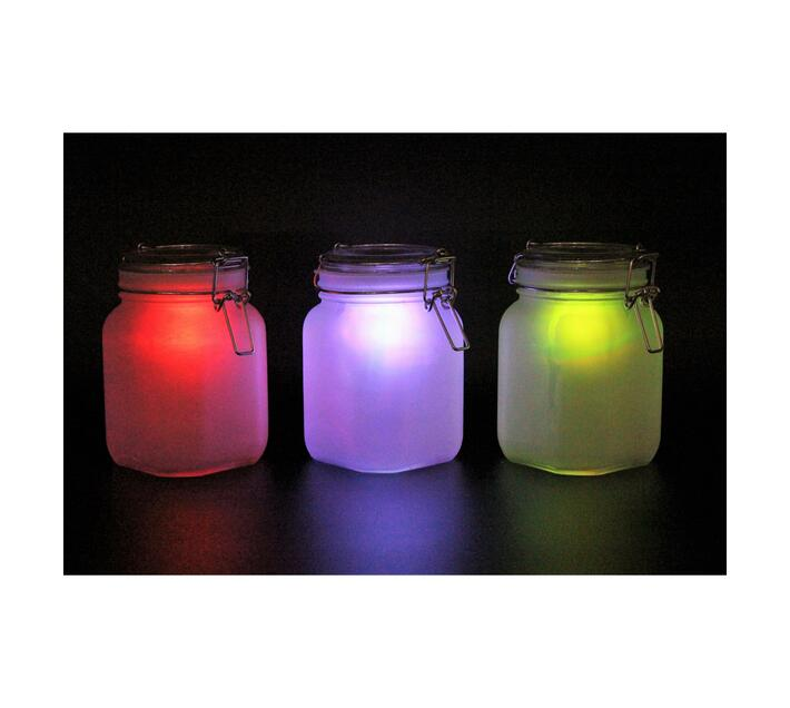 Solar Powered Color Changing Light Jar