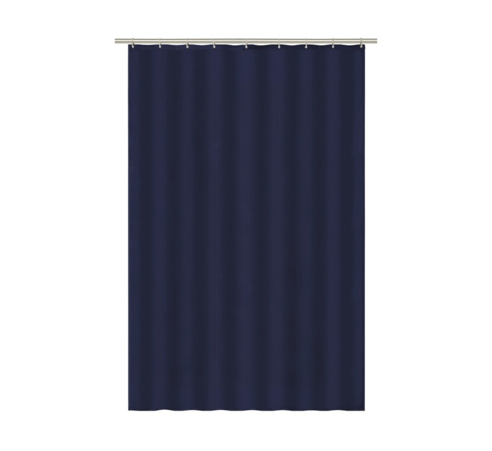 DEJAY Drip Dry Shower Curtain, Navy Blue