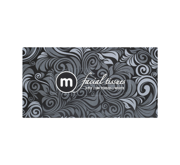 M FACIAL TISSUES COLOURS 2PLY 180'S