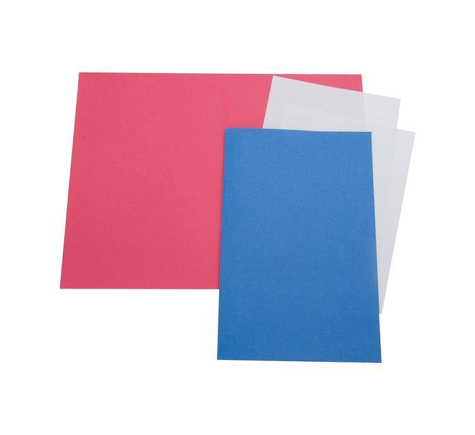 ARO Straight Cut Folders Red 100 Pack