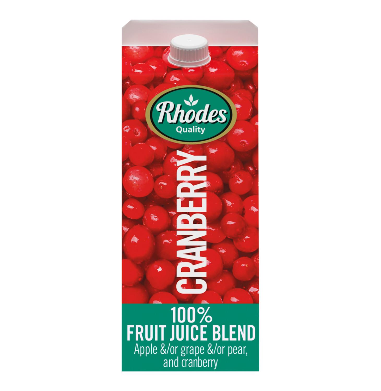 Rhodes 100% Fruit Juice Blend Cranberry (6 x 2l)