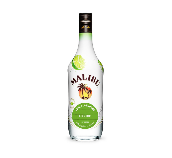 MALIBU Lime Flavoured Rum (1 x 750ml)