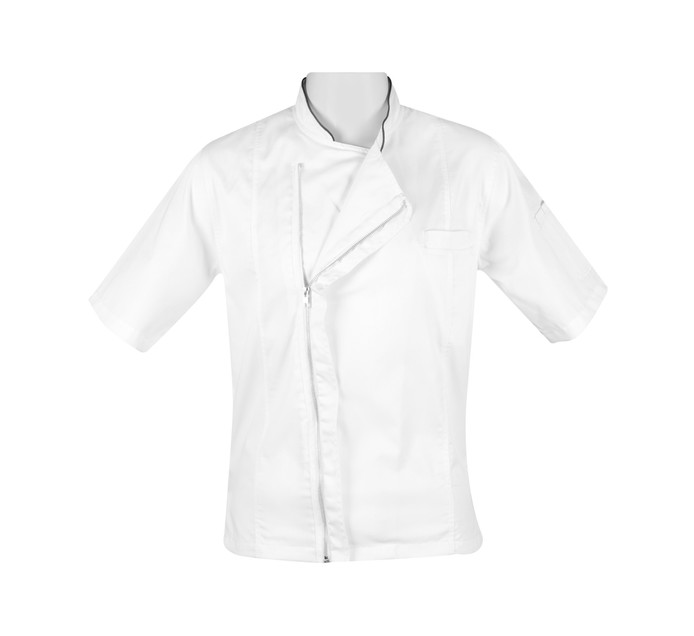BAKERS & CHEFS Bakers & Chefs S/S Zipper Jacket white