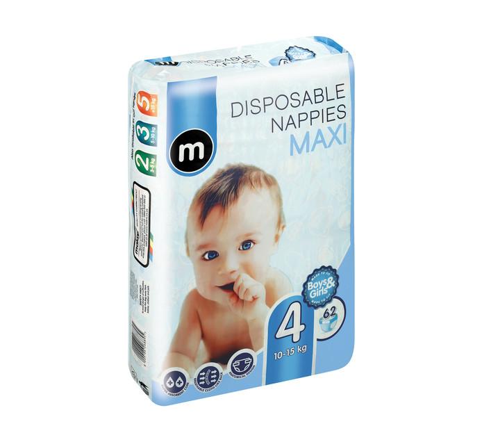 M Disposable Nappy Size 4 Maxi (1 x 62's)