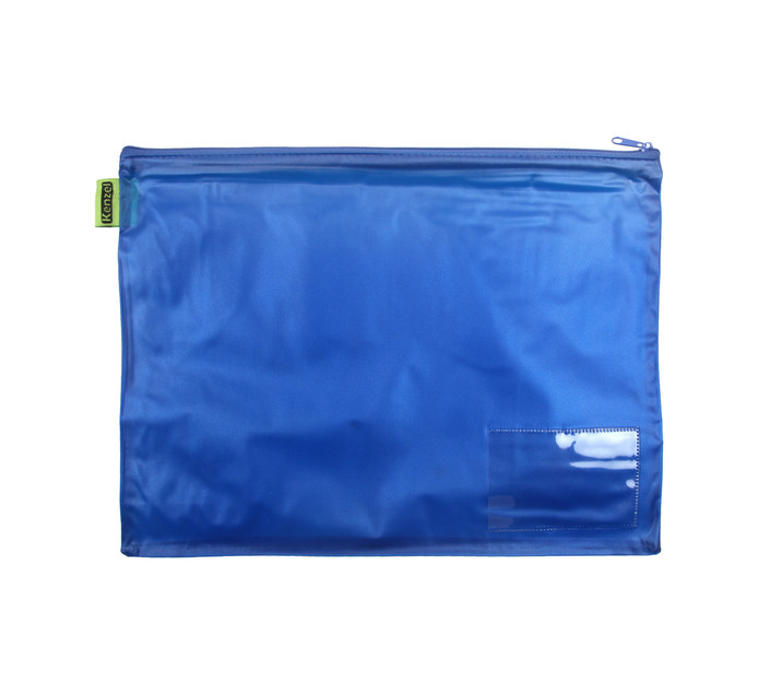 KENZEL A4 PVC Book Bag Each Blue
