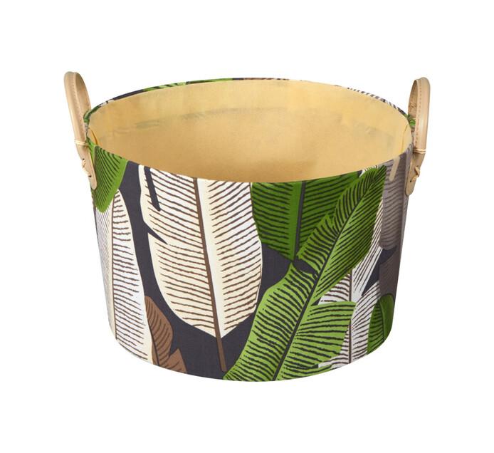 Large Leaf Basket Round