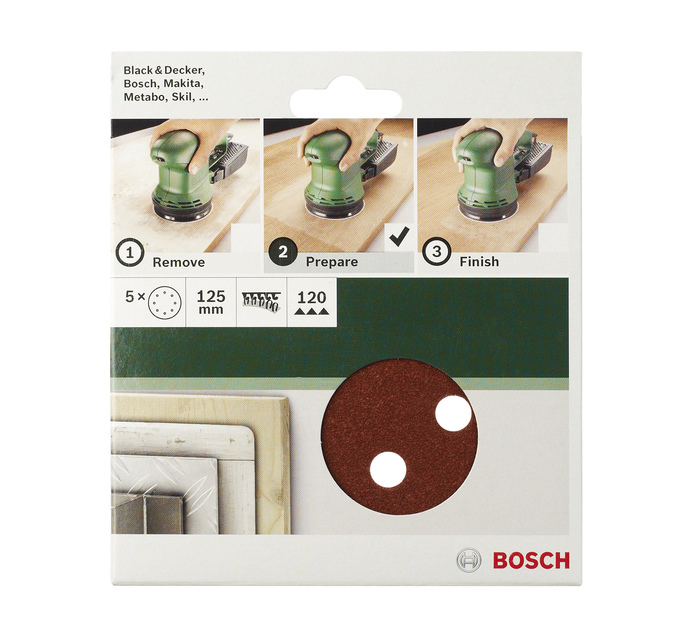 BOSCH 125MM x 120 Grit 120 Grit Sanding Sheet