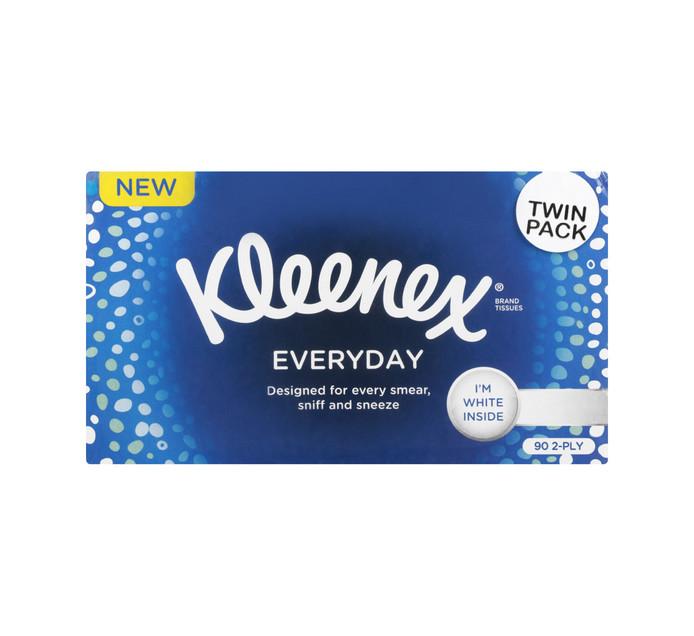 KLEENEX Everday 2 Ply Facial Tissues White Tissues (2 X 90'S)